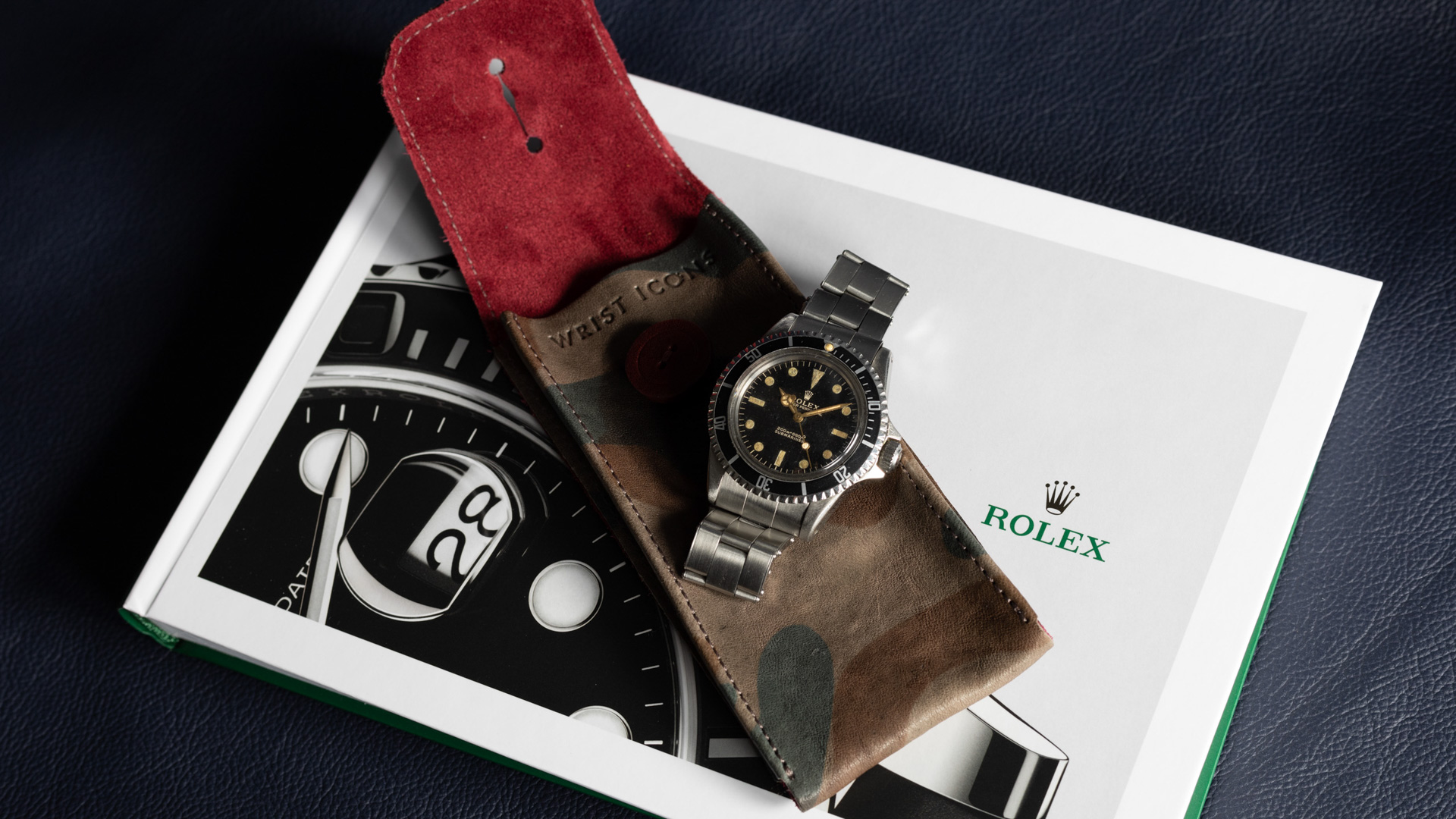 Rolex Submariner 5513 Gilt White Swiss Only Dial 1963 Pointed Crown Guards